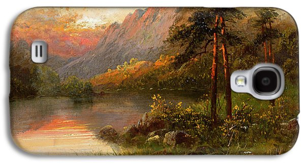 Wilderness Paintings Galaxy S4 Cases - Highland Solitude Galaxy S4 Case by Frank Hider