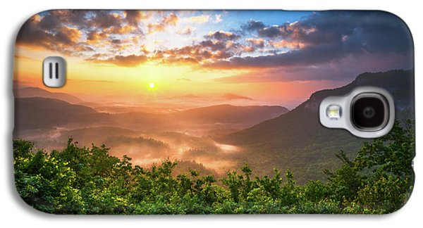 Highlands Sunrise - Whitesides Mountain In Highlands Nc Galaxy S4 Case by Dave Allen