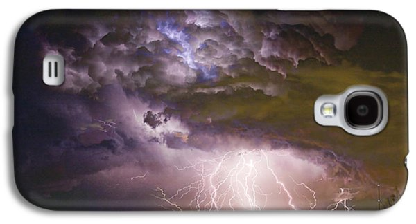 Colorado Galaxy S4 Cases - Highway 52 Storm Cell - Two and half Minutes Lightning Strikes Galaxy S4 Case by James BO  Insogna