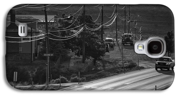 Landmarks Photographs Galaxy S4 Cases - Highway Noir Galaxy S4 Case by Christian Heeb