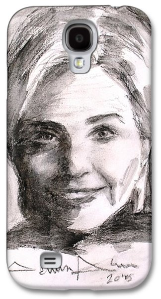 First Lady Drawings Galaxy S4 Cases - Hillary Clinton Galaxy S4 Case by Salman Ameer