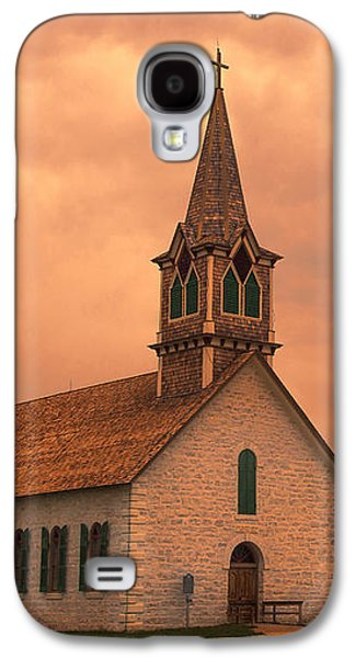 Landmarks Photographs Galaxy S4 Cases - Hill Country Sunset - St Olafs Church Galaxy S4 Case by Stephen Stookey