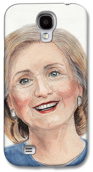 First Lady Drawings Galaxy S4 Cases - Hillary Clinton Galaxy S4 Case by Igor Bazilevskii