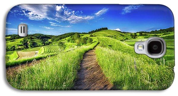 Hills Of Summer Galaxy S4 Case by Claudio Testa