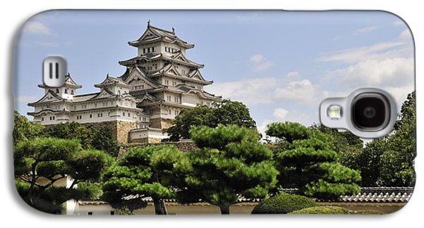 Castle Photographs Galaxy S4 Cases - Himeji Castle and Gardens Japan Galaxy S4 Case by Andy Smy