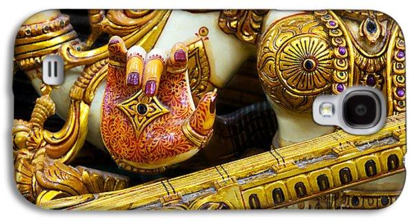 Hindu Goddess Photographs Galaxy S4 Cases - Hindu Goddess Saraswati Detail Galaxy S4 Case by Tim Gainey