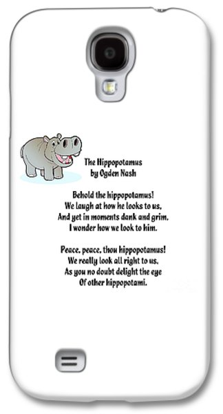 Hippopotamus Digital Galaxy S4 Cases - Hippopotamus LImerick Galaxy S4 Case by Spencer McKain