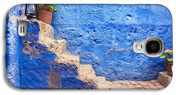 Historic Blue Stairs Galaxy S4 Case by Jess Kraft