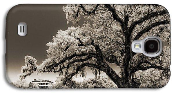 Live Oaks Galaxy S4 Cases - Historic Drayton Hall in Charleston South Carolina Live Oak Tree Galaxy S4 Case by Dustin K Ryan