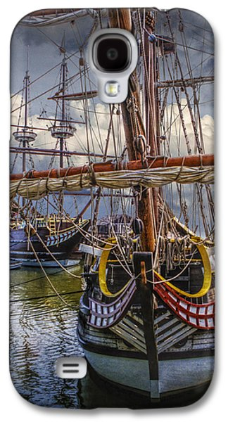 Historic Schooner Galaxy S4 Cases - Historic Jamestown Ships Galaxy S4 Case by Randall Nyhof