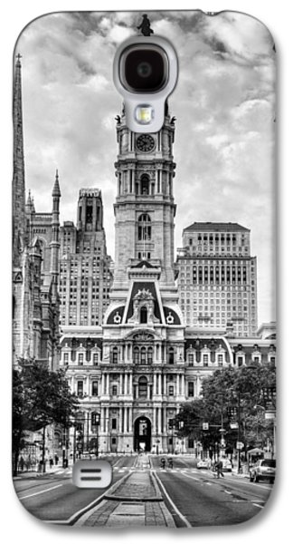 Historic Downtown Franklin Galaxy S4 Cases - Historic Philly City Hall Galaxy S4 Case by JC Findley