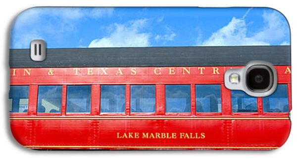 Caboose Photographs Galaxy S4 Cases - Historic Red Passenger Car, Austin & Galaxy S4 Case by Panoramic Images