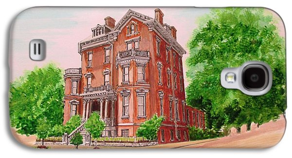 Historic Home Drawings Galaxy S4 Cases - Historic Savannah Home Galaxy S4 Case by Olga Silverman
