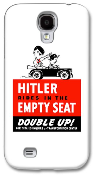Caricatures Galaxy S4 Cases - Hitler Rides In The Empty Seat Galaxy S4 Case by War Is Hell Store