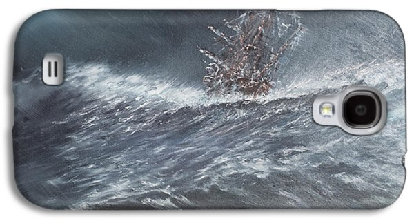 Sailboats In Water Galaxy S4 Cases - HMS Beagle in a storm off Cape Horn Galaxy S4 Case by Vincent Alexander Booth