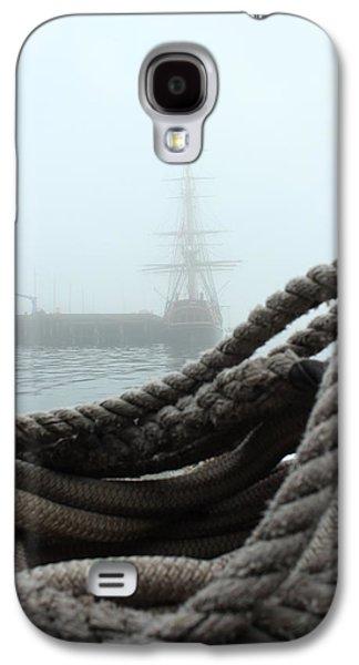 Maine Bounty Galaxy S4 Cases - HMS Bounty In The Eastport Fog Galaxy S4 Case by Rick  Blood