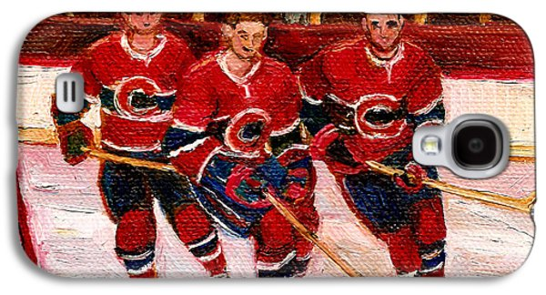 Stanley Cup Paintings Galaxy S4 Cases - Hockey At The Forum Galaxy S4 Case by Carole Spandau