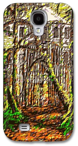 Creepy Digital Art Galaxy S4 Cases - Hoffmans Mansion original sold prints available Galaxy S4 Case by Larry Lamb