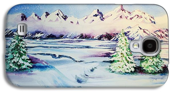 Catherine White Paintings Galaxy S4 Cases - Holiday Snow Galaxy S4 Case by Catherine Bennett