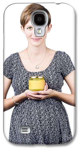 Holistic Naturopath Holding Jar Of Homemade Spread Galaxy S4 Case by Jorgo Photography - Wall Art Gallery