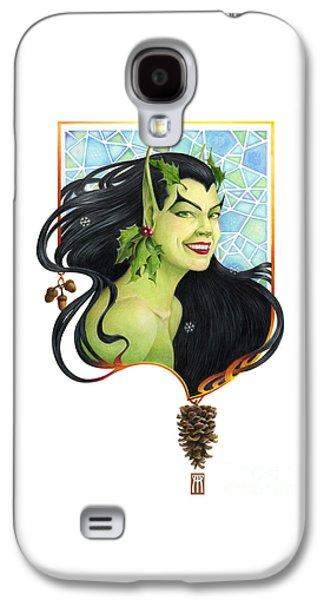 Fantasy Mixed Media Galaxy S4 Cases - Holly Elf Galaxy S4 Case by Melissa A Benson