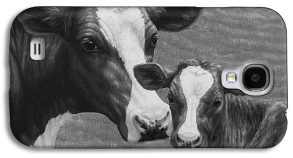 Holstein Cow Farm Black And White Galaxy S4 Case by Crista Forest