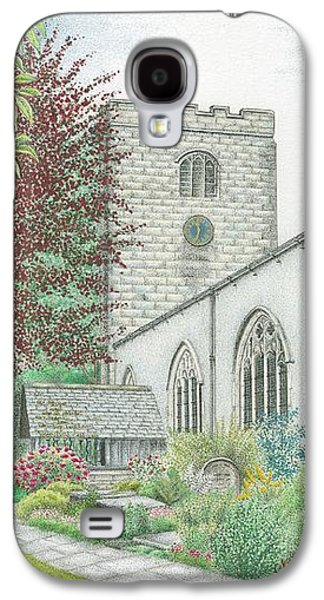 Church Drawings Galaxy S4 Cases - Holy Trinity Church Clock Bolton le Sands Lancashire Galaxy S4 Case by Sandra Moore