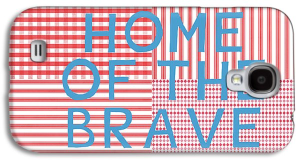 Home Of The Brave- Art By Linda Woods Galaxy S4 Case by Linda Woods