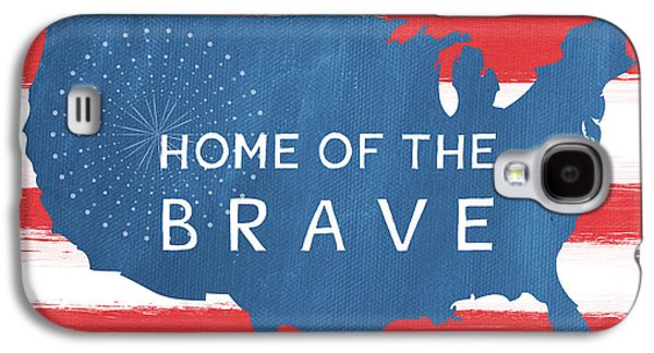 Brave Mixed Media Galaxy S4 Cases - Home Of The Brave Galaxy S4 Case by Linda Woods