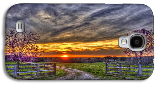 Home Sweet Home Lick Skillet Road Sunset Galaxy S4 Case by Reid Callaway