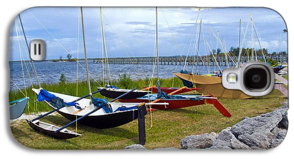 Dragon Greeting Cards Galaxy S4 Cases - Homemade outriggers canoes on the Indian River Lagoon in Florida Galaxy S4 Case by Allan  Hughes