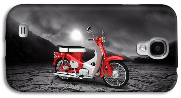 Honda C50 Cub 1967  Mountains Galaxy S4 Case by Aged Pixel