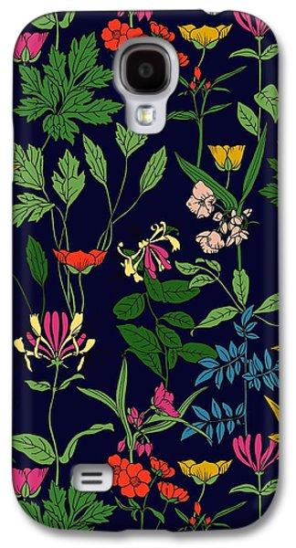 Honeysuckle Floral Galaxy S4 Case by Sholto Drumlanrig