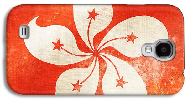 Hong Kong China Flag Galaxy S4 Case by Setsiri Silapasuwanchai