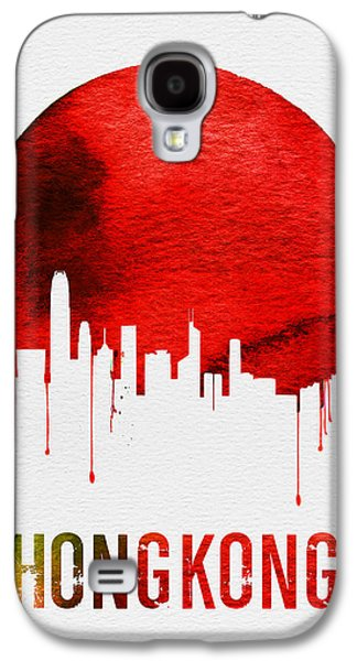 Hong Kong Skyline Red Galaxy S4 Case by Naxart Studio