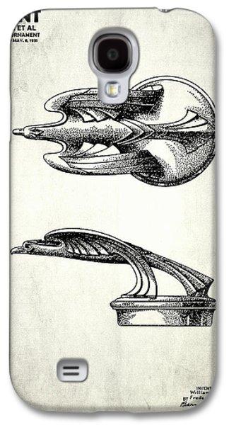 Hood Ornament Photographs Galaxy S4 Cases - Hood Ornament Patent 1931 Galaxy S4 Case by Mark Rogan
