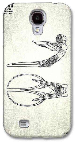 Hood Ornament Photographs Galaxy S4 Cases - Hood Ornament Patent 1934 Galaxy S4 Case by Mark Rogan