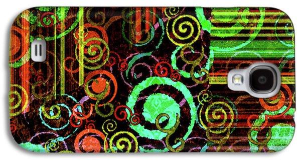 Modern Abstract Digital Art Digital Art Digital Art Galaxy S4 Cases - Hoopla Galaxy S4 Case by Bonnie Bruno
