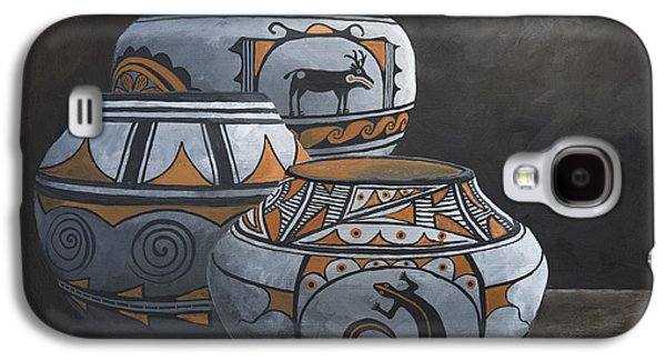 Hopi Galaxy S4 Cases - Hopi Pots Galaxy S4 Case by Jerry McElroy