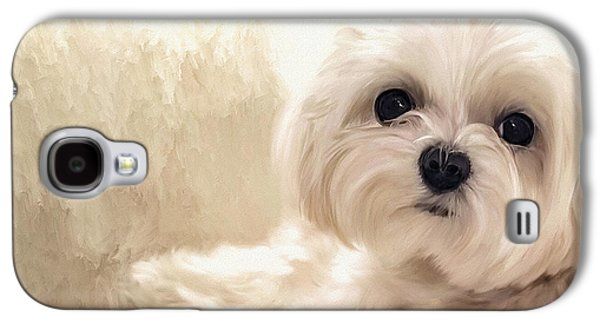 Dogs Digital Galaxy S4 Cases - Hoping For A Cookie Galaxy S4 Case by Lois Bryan