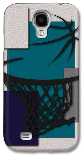 Charlotte Photographs Galaxy S4 Cases - Hornets Hoop Galaxy S4 Case by Joe Hamilton