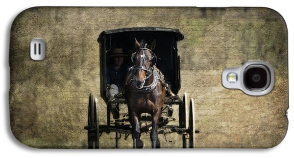 Old Country Roads Photographs Galaxy S4 Cases - Horse and Buggy Galaxy S4 Case by Tom Mc Nemar