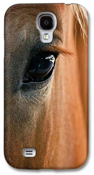 Man Cave Photographs Galaxy S4 Cases - Horse Eye Galaxy S4 Case by Adam Romanowicz