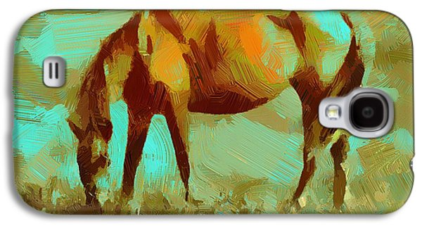 Abstract Nature Galaxy S4 Cases - Horse Freedom Galaxy S4 Case by Yury Malkov