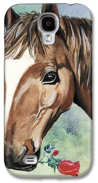 Ross Paintings Galaxy S4 Cases - Horse In Love Galaxy S4 Case by Alban Dizdari