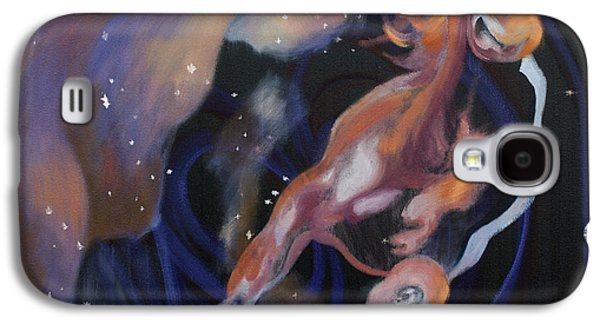 Constellations Paintings Galaxy S4 Cases - Horse in Stars Galaxy S4 Case by Laura Ungs