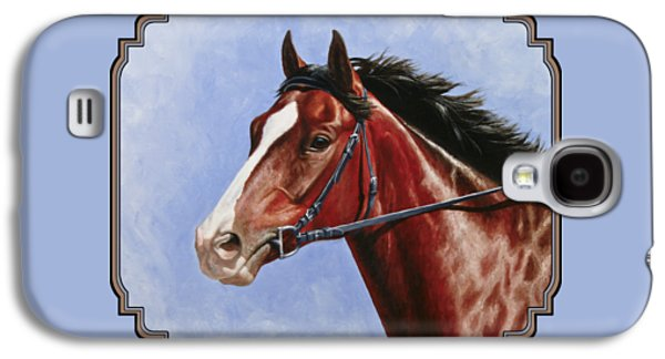 Race Horse Galaxy S4 Cases - Horse Painting - Determination Galaxy S4 Case by Crista Forest