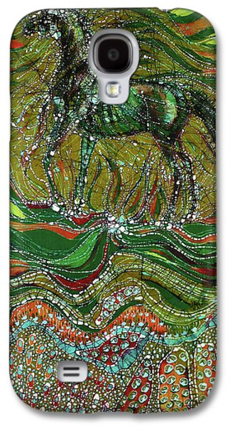 Nature Abstract Tapestries - Textiles Galaxy S4 Cases - Horse Rises From The Earth Galaxy S4 Case by Carol Law Conklin