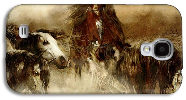 Spirits Galaxy S4 Cases - Horse Spirit Guides Galaxy S4 Case by Shanina Conway