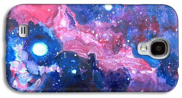 Constellations Paintings Galaxy S4 Cases - Horsehead Nebula Galaxy S4 Case by Chris Walker